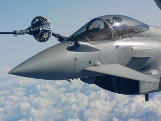 Tornado jet mid-flight refuel