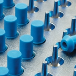 BHC Aerovox electrolytic capacitors with DP Seals safety vent mouldings