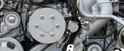 Close up image of engine