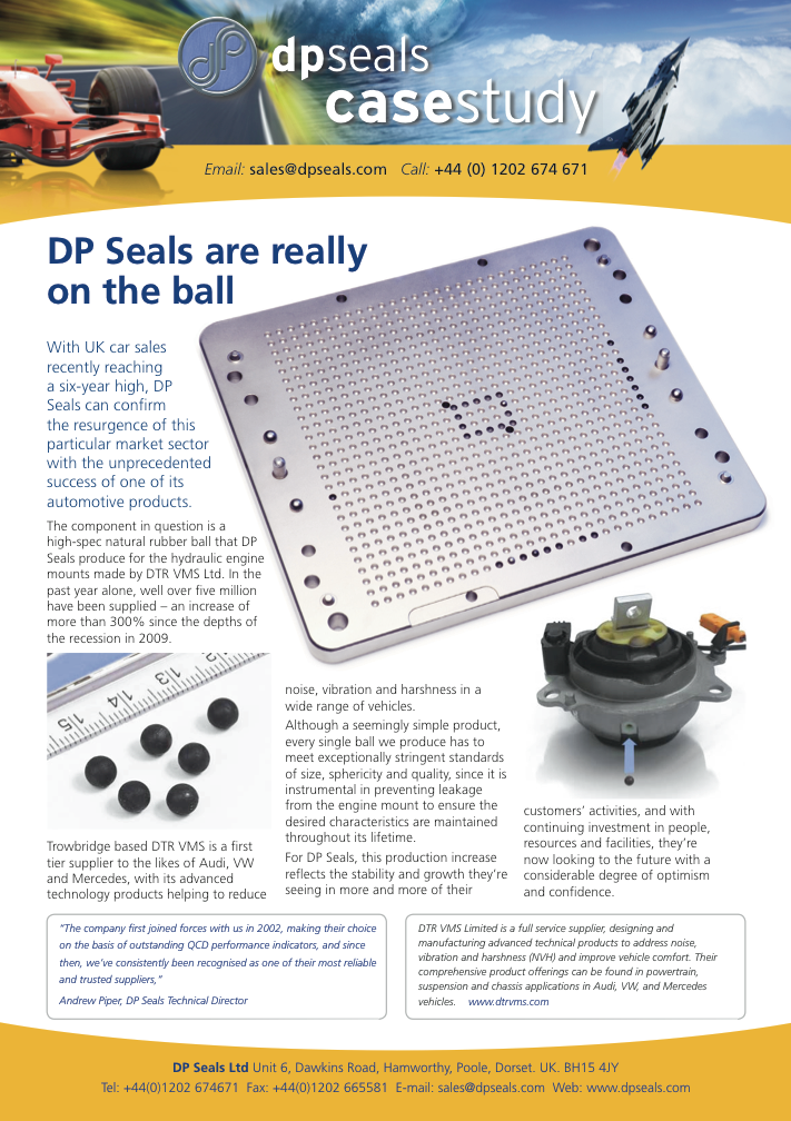 DP Seals are really on the ball - DP Seals