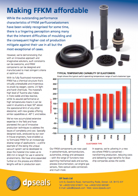 Article on Affordable FFKM perfluoroelastomers