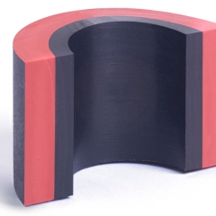 Rubber moulding innovation - 3 materials with different levels of conductivity