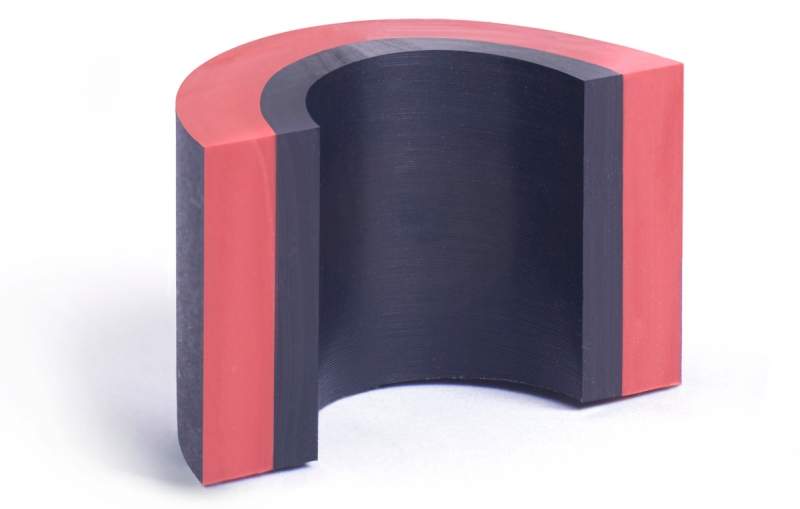 Custom rubber moulders - innovation using 3 materials with different levels of conductivity