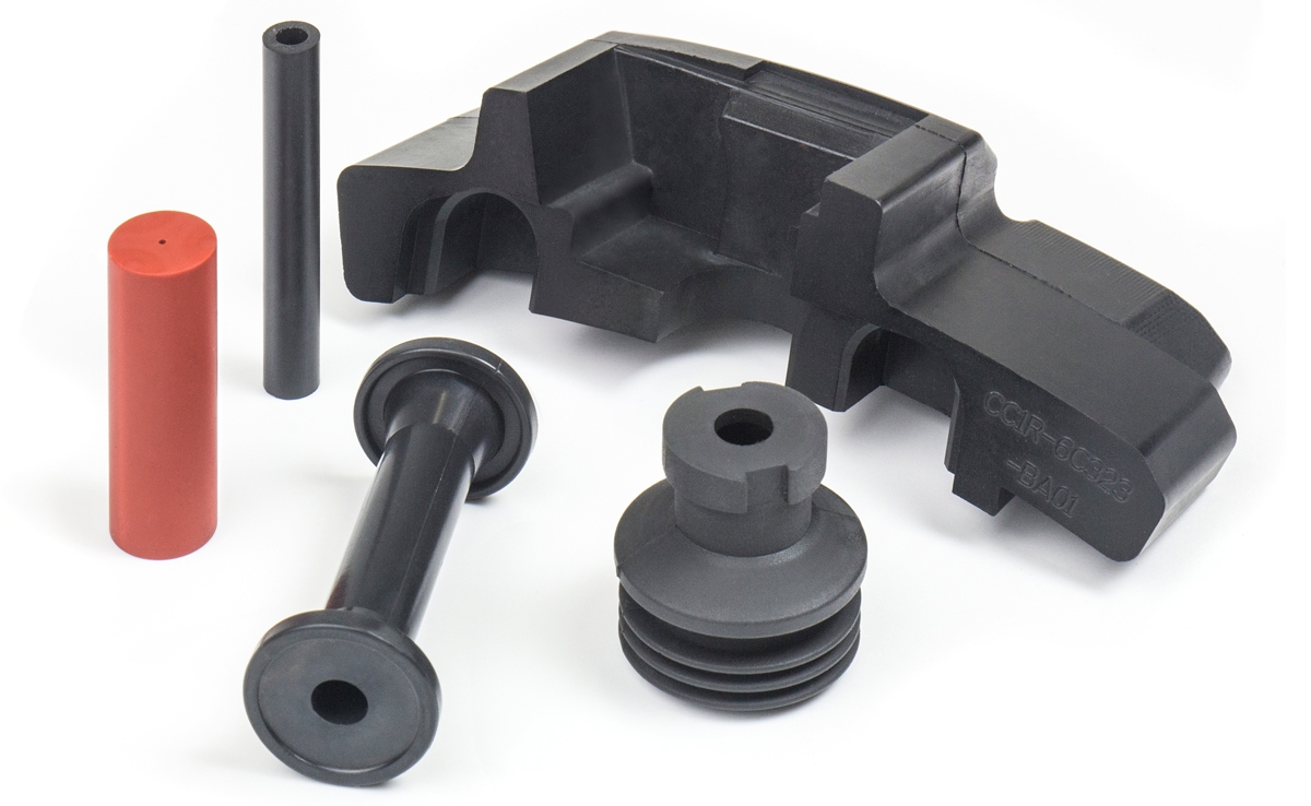 A selection of subsea and aerospace rubber mouldings