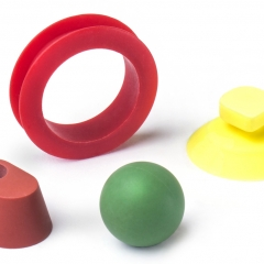 Colourful rubber mouldings