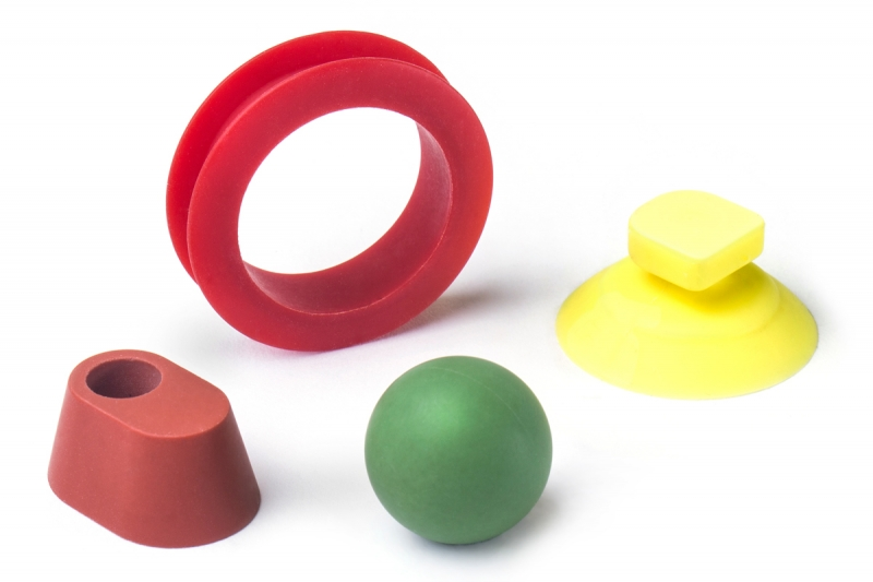 Colourful custom rubber mouldings