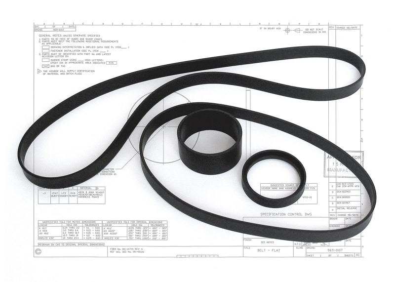 igh performance rubber belts for Cubic Transportation System