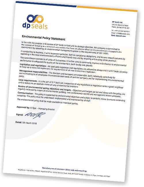DP Seals Environmental Policy