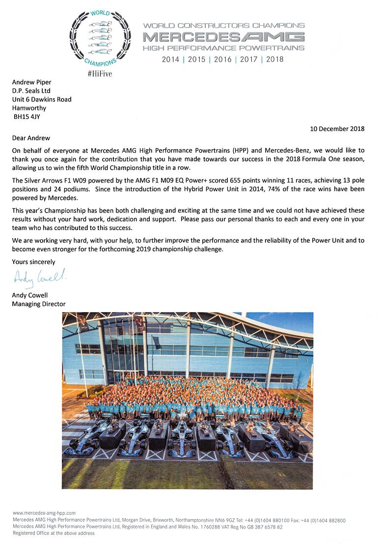 Mercedes AMG letter (2018)