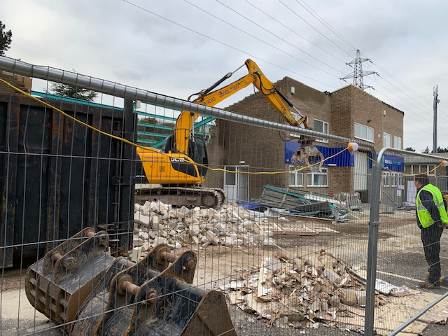 DP Seals Old Units Being Demolished